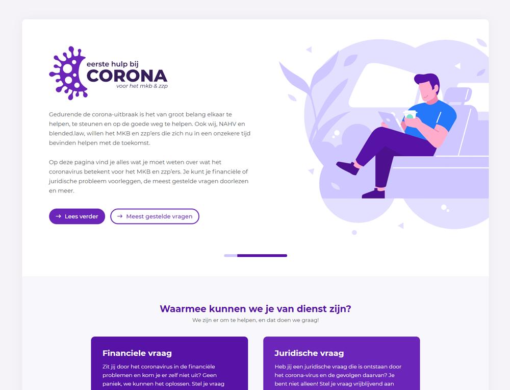 Eerste hulp bij Corona one